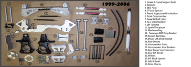 "1999-2006 GMC Sierra 1500 Lift Kit 4WD 9""  McGaughys 9-50000"