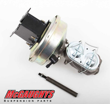 """1967-1972 Chevy & GMC C10 9"""" Brake Booster With Master Cylinder & Bracket; Front Disc Brakes - Part# 63183"""