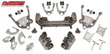 Lower Control Arm Mount W/ Rack & Heavy Duty Heim Steering 1973-1987 Chevy & GMC C10 Front Drop Coil Over Cross Member Complete Kit - McGaughys 63116