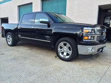 """2016.5-2017 Chevy Silverado 1500 W/ AVV Stamped Steel HD Control Arms 2/4"""" Deluxe Drop Kit - PRS-34240 (Installed Side)"""