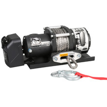 5800lb Trailer Winch, 50' Synth Rope, Roller Frld, Mnt Plate, Low Profile Bulldog Winch- 10030