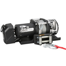 7800lb Trailer Winch, 47.6' Wire Rope, Roller Frld, Mnt Plate, Low Profile Bulldog Winch - 10031