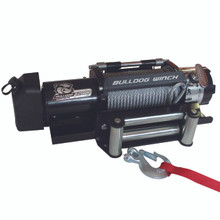 12000lb Trailer Winch, Wire Rope, Roller Fairlead Bulldog Winch - 10039