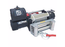 15000lb Alpha Truck Winch, Wire rope, roller fairlead Bulldog Winch - 10047