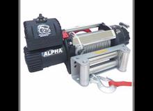 15000lb Alpha Truck Winch, Wire rope, roller fairlead Bulldog Winch - 10047