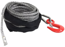 8mm x 50ft Synthetic Rope, Grey Bulldog Winch - 20226
