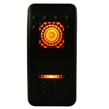 Rocker Switch-ON/OFF 5-Pin Amber Bulldog Winch - 20259