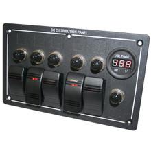 5-Switch Voltmeter Panel w/Breakers Bulldog Winch - 20267