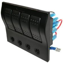 4-Switch Panel w/Lighted Breakers Bulldog Winch - 20266