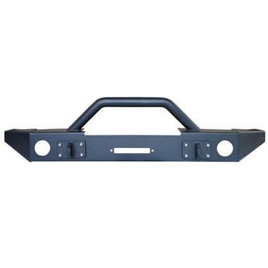 JK Front Bumper w/Winch Mount, Light Mounts Bulldog Winch - 21022