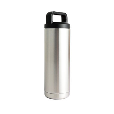 18oz 304 Stainless Drink Bottle w/Screw-on Finger Hold Lid Bulldog Winch - 80049