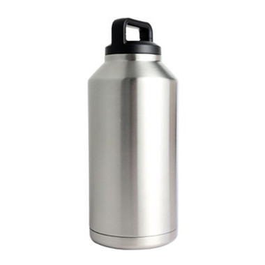 64oz 304 Stainless Drink Bottle w/Screw-on Finger Hold Lid Bulldog Winch - 80051