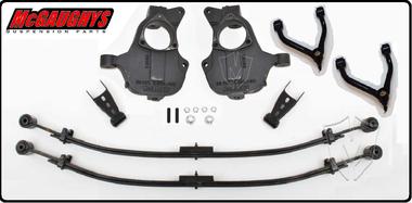"2014-2017 GMC Sierra 1500 4WD W/ Alum & Stamped Steel Control Arms 2/4"" Deluxe Leaf Drop Kit - McGaughys 34310"