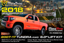 "2007-2018 Toyota Tundra 4wd 6"" MaxTrac Lift Kit W/ Shocks - K946764"