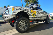"2017-Up Ford F250/350 S.D. 4wd 6"" MaxTrac Forged Four Link Lift Kit W/ FOX Shocks - K883362F-4L Installed"