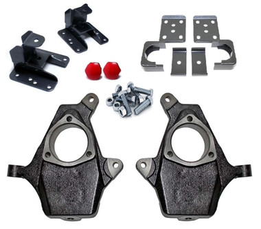 """1999-2006 Chevy & GMC 1500 2wd/4wd 2/4"""" MaxTrac Spindle Drop Kit - K993048"""