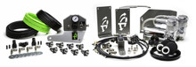 2007-2018  Jeep JK  UpDownAir 4 ADS System Front Controller W/ Dual Chrome VIAIR Compressors   - 12-2077-C