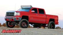"2014-2018 Chevrolet Silverado 1500 4wd 7""-9"" Silver SS Lift Kit - McGaughys 50777-SSS"