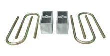 "1982-2000 S10 / 1984-1997 Blazer / 1955-1957 Chevy Car 1"" Rear Lowering Blocks and U-Bolts - 33119"