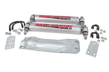 1959-1979 Ford F-250 and F-350 4wd Dual Steering Stabilizer - Rough Country 87356.20