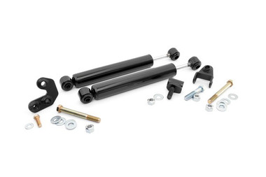 1984-2001 Jeep Cherokee XJ and Comanche MJ 4wd/2wd Dual Steering Stabilizer - Rough Country 87308