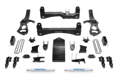 """2019-2020 GM 1500 4wd 6"""" Lift Kit W/ Rear Performance Shocks - Fabtech K1132"""