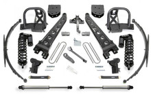 "2011-2016 Ford F-350 4wd & 2011-2013 F-450 [8 Lug] 4wd 10"" Radius Arm Lift Kit W/ Dirt Logic 4.0 Coilovers - Fabtech K2153DL"