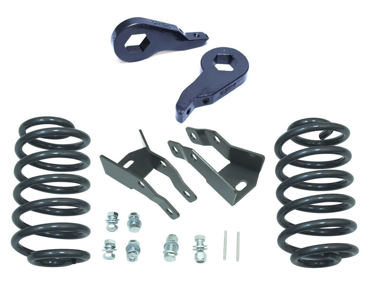 "2000-2006 SUV 2/""-3/"" Front Keys 4/"" Rear Drop Coils Springs Lowering Kit"