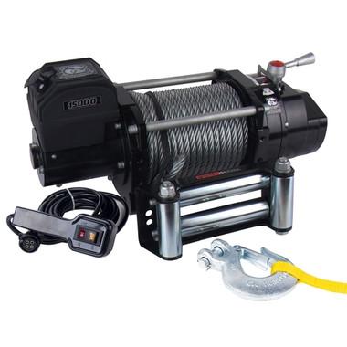 15000lb Winch, Heavy-duty 7.2hp W/  Roller Fairlead Bulldog Winch - 10012