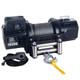 18500lb Heavy-duty Steel Winch w/ Roller Fairlead and Synthetic Rope - Bulldog Winch 10060