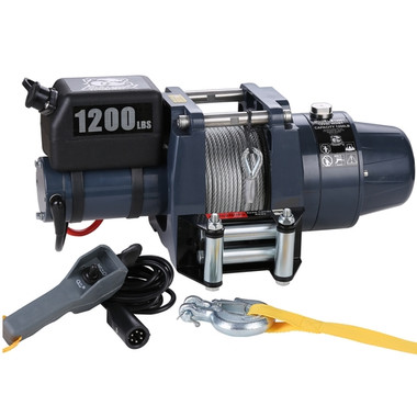 1200lb 12v DC Wire Rope Hoist - Bulldog Winch 12001