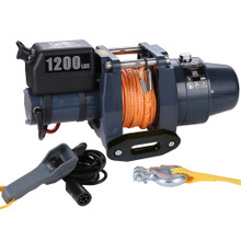 1200lb 12v DC Synthetic Rope Hoist - Bulldog Winch 12002