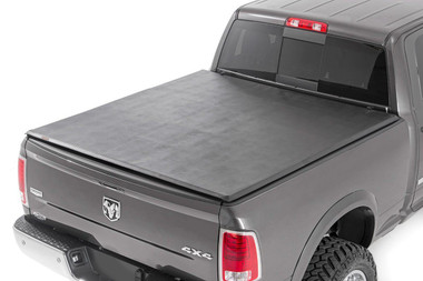 """2019-2020 Ram 1500 Soft Tri-Fold Bed Cover For 6' 4"""" Bed - Rough Country RC44309650"""
