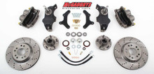 "13"" Front Cross Drilled Big Brake Kit 58-64 Chevy Fullsize Car"