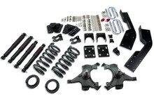 "1995-1999 Chevy Suburban 2wd 4/7 Or 5/7"" Drop Kit W/ Nitro Drop Shocks - Belltech 784ND"