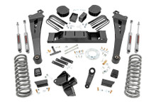 """2020 Dodge Ram 3500 4wd Diesel Dually W/ Rear Air Ride 5"""" Lift Kit - Rough Country 30930"""