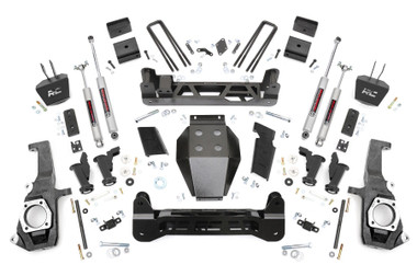"""2011-2019 GM 2500/3500HD 2wd/4wd Torsion Drop  5"""" Lift Kit - Rough Country 10330"""