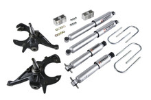 "1999-2004 Chevy S10 Standard Cab 2WD 2/3"" Lowering Kit w/ Street Performance Shocks - Belltech 614SP"