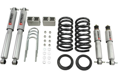"""1999-2004 Chevy S10 2WD (Ext Cab) 3/3"""" Lowering Kit w/ Street Performance Shocks - Belltech 618SP"""