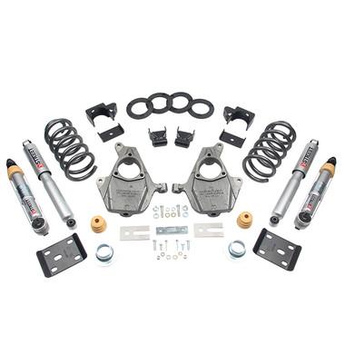 "2016.5-2018 Chevy Silverado 1500 2WD (Std Cab) 4/7"" Lowering Kit w/ Street Performance Shocks - Belltech 1015SP"