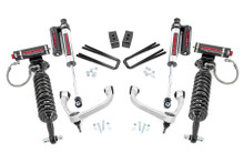 """2021 Ford F-150 4wd 3"""" Lift Kit W/ Vertex Coilovers & Vertex Rear Shocks - Rough Country 57750"""