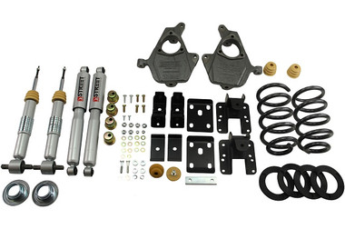 "2014-2016.5 Chevy Silverado 1500 2WD (Ext Cab) 3/5"" Lowering Kit w/ Street Performance Shocks - Belltech 996SP"