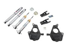 "2007-2013 Chevy Silverado 1500 2WD (Std Cab) 2/3"" Lowering Kit w/ Street Performance Shocks - Belltech 639SP"