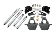 "2005-2006 Chevy Silverado 1500 2WD (Ext Cab) 2/4"" Lowering Kit w/ Street Performance Shocks - Belltech 948SP"