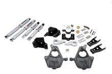 "2005-2006 Chevy Silverado 1500 2WD (Ext Cab) 3/4"" Lowering Kit w/ Street Performance Shocks - Belltech 661SP"