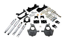 "2005-2006 GMC Sierra 1500 4WD (Ext Cab) 4/6"" Lowering Kit w/ Street Performance Shocks - Belltech 662SP"