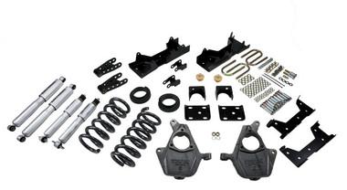 "1999-2000 GMC Sierra 1500 2WD (Std Cab) 5/7"" Lowering Kit w/ Street Performance Shocks - Belltech 669SP"