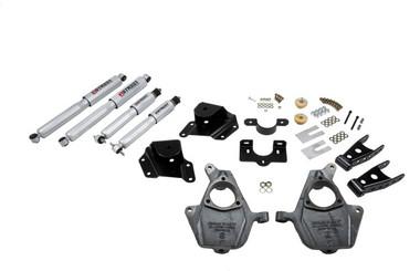 "1999-2000 Chevy Silverado 1500 2WD (Ext Cab) 2/4"" Lowering Kit w/ Street Performance Shocks - Belltech 660SP"