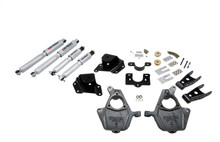 "1999-2000 GMC Sierra 1500 2WD (Ext Cab) 2/4"" Lowering Kit w/ Street Performance Shocks - Belltech 660SP"