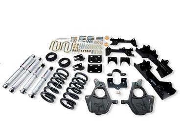 "1999-2000 GMC Sierra 1500 2WD (Ext Cab) 4/6"" Lowering Kit w/ Street Performance Shocks - Belltech 680SP"